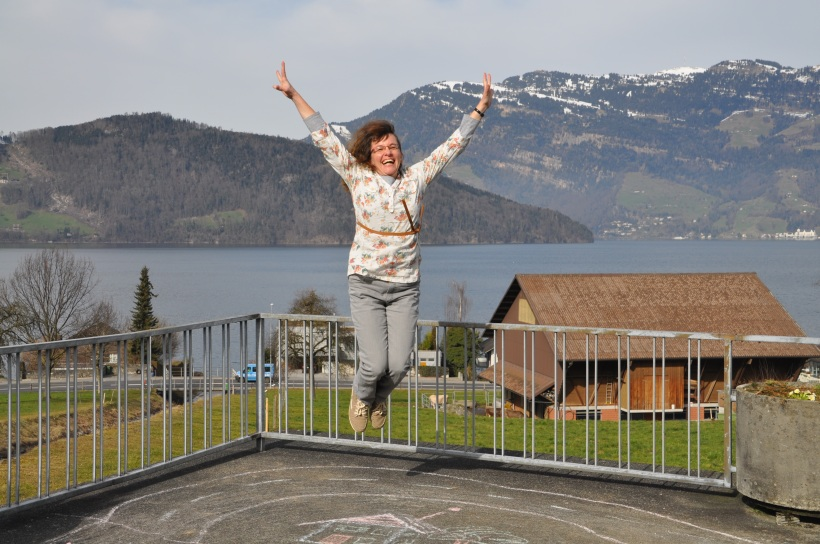 Ich geniesse unser Zuhause am wunderschönen Vierwaldstättersee, Schweiz