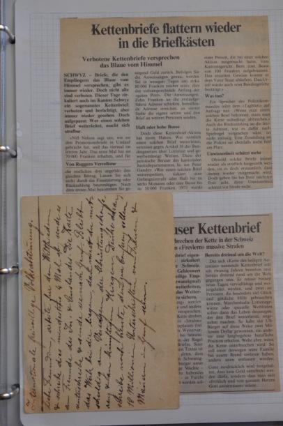 Kettenbriefe haben eine alte Tradition